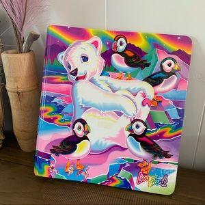 Lisa Frank Roary Polar Bear Cardboard Binder Rare